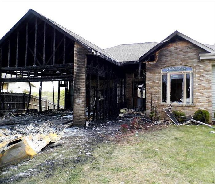 Fire Damage in West Bend, WI Before